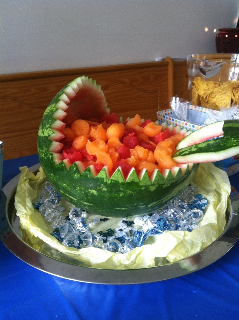 Watermelon Baby Carriage Fruit Bowl