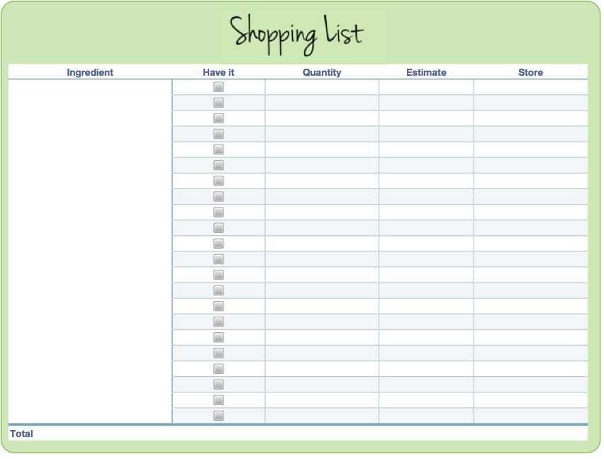a free printable shopping list screen shot 2013 10 16 at 104821 am