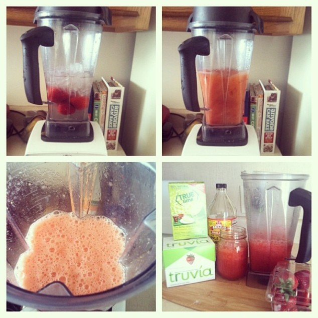 Lime Strawberry Juice Drink