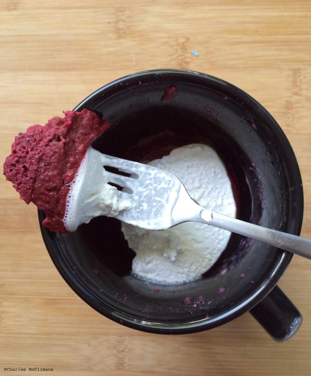 Red Velvet Cake in a Mug